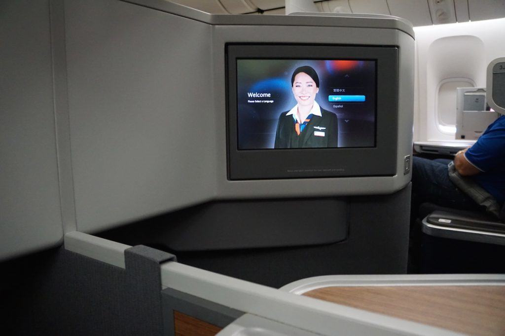 77W in-flight entertainment, a large 15.4-inch touchscreen monitor with movies, TV shows, music, and games. http://www.travelingwellforless.com