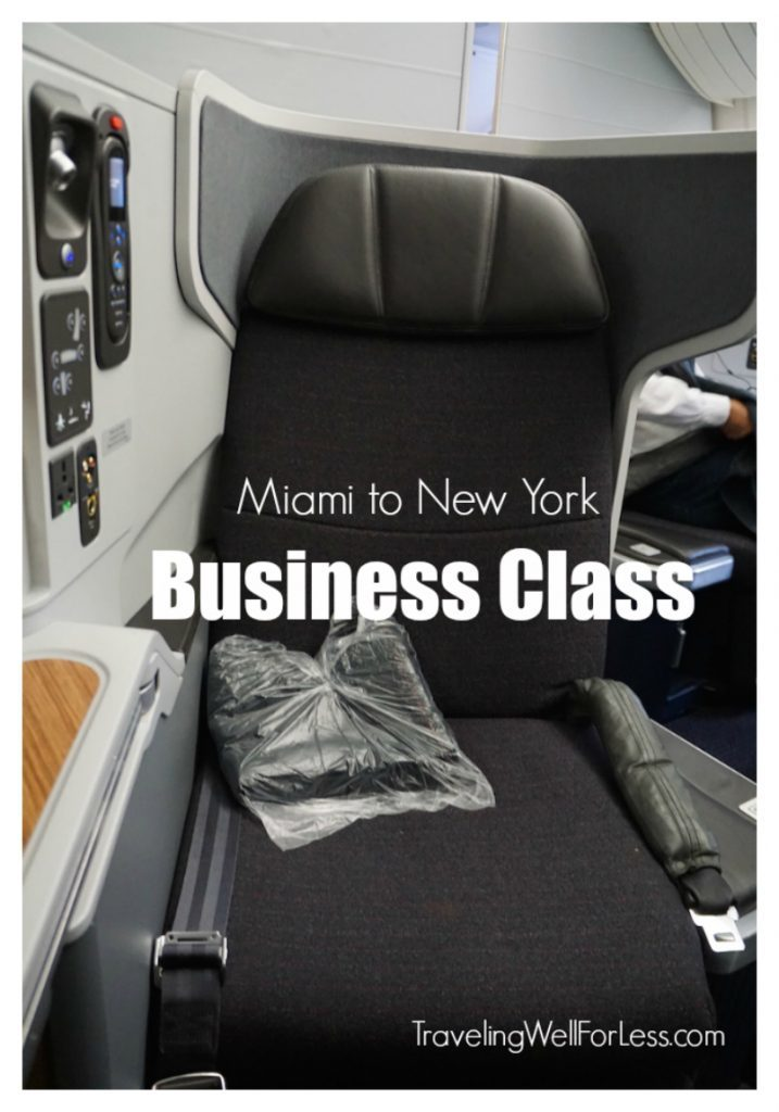 Why fly in coach when you can fly lie-flat Business Class seat. Travel expert Debra Schroeder's review of Miami to New York Business Class. http://www.traelingwellforless.com