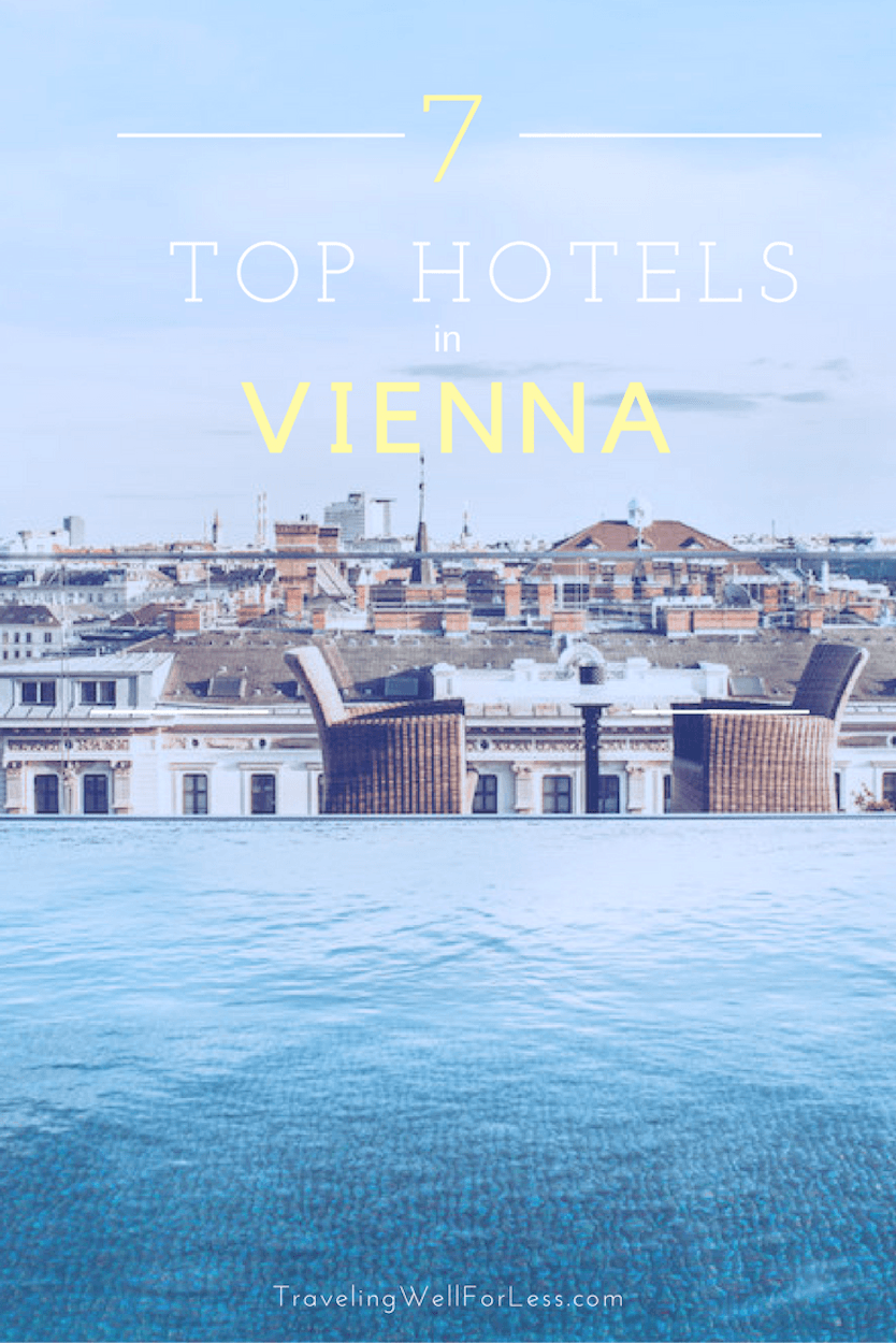 Wondering where to stay in Vienna, Austria? These top hotels, luxury to budget, have unique histories: had a role in a murder-suicide, spy headquarters, former bank, and more. https://www.travelingwellforless.com
