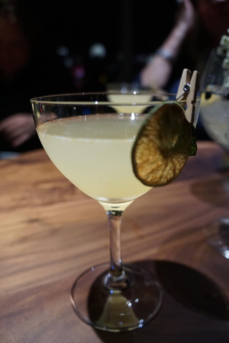 The Garden Stroll was an intriguing drink made with Titos vodka, basil, eau de vie, apricot brandy, and lime.| Dublin, Ohio | Columbus | Spanish food | where to eat in Columbus | TravelingWellForLess.com