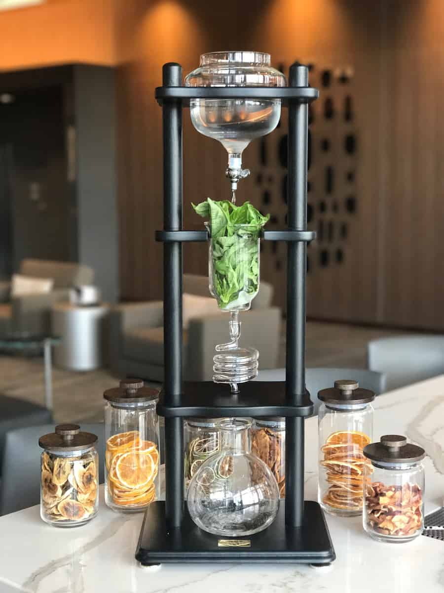 To get the right flavor the basil steeps in the vodka for days using a special beaker system. | Dublin, Ohio | Columbus | Spanish food | where to eat in Columbus | TravelingWellForLess.com