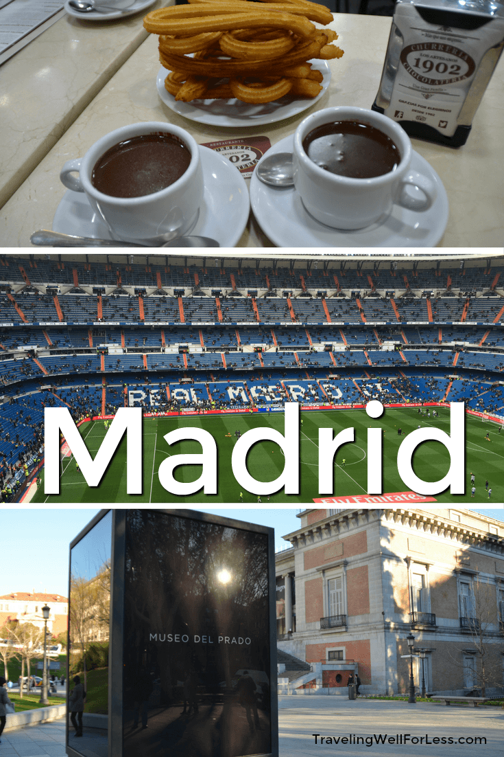 Chocolate, soccer, and the Prado: the best of Madrid. Keep reading for my Madrid trip report. Traveling Well For Less