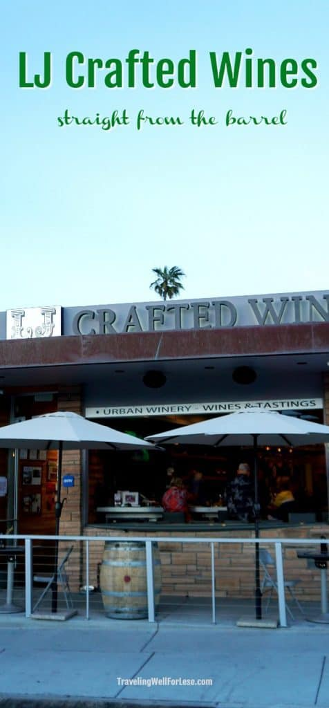 You'll find LJ Crafted Wines tucked away in Bird Rock. Enjoy fine wines in a vineless setting on La Jolla Avenue, away from the crowds and steps from Bird Rock Coffee Roasters. | San Diego wineries | What to do in San Diego | www.travelingwellforless.com