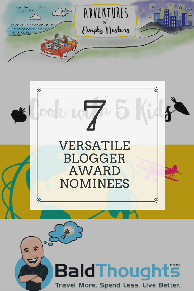 Traveling Well For Less is a 2-time Versatile Blogger Award and Liebster Award winner. Learn more about the Versatile Blogger Award and Liebster Award. Here are our 7 nominees | blog award | Traveling Well For Less