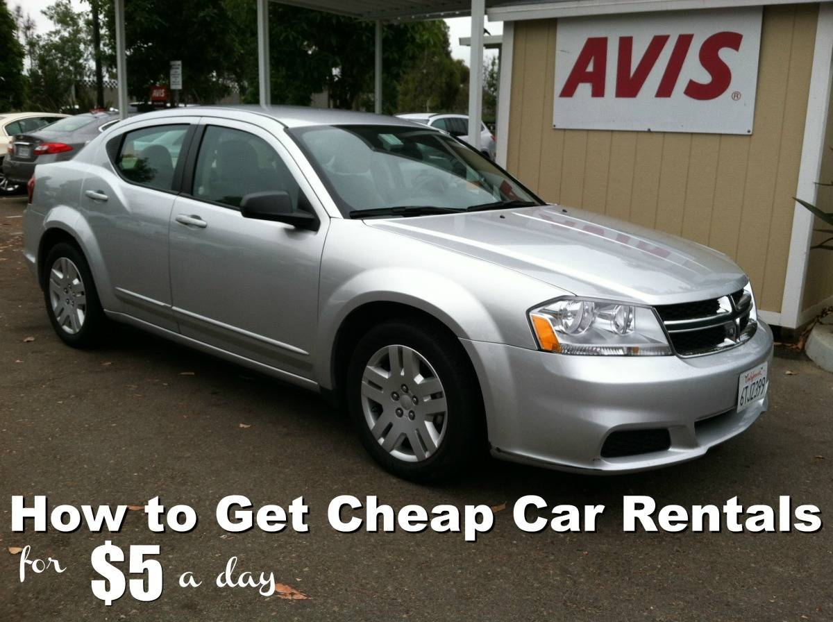 Twice a year you can get cheap car rentals from $5 a day. TravelingWellForLess.com
