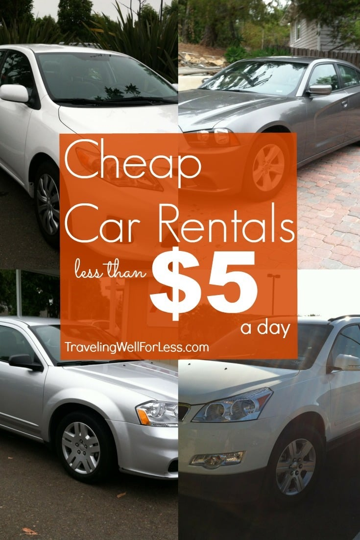 Twice a year you can score cheap car rentals for less than $5 a day. Click through the post to learn more. | travel deals | travel hacks | TravelingWellForLess.com