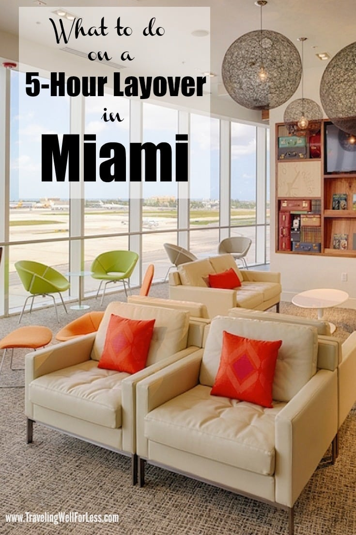 Visiting Miami on a short layover is possible. Here's the ultimate guide on what to do if you have a 5-hour layover in Miami. | what to do during a layover | things to do in Miami | what to do on a Miami layover | Photo credit: Miami Airport | TravelingWellForLess.com