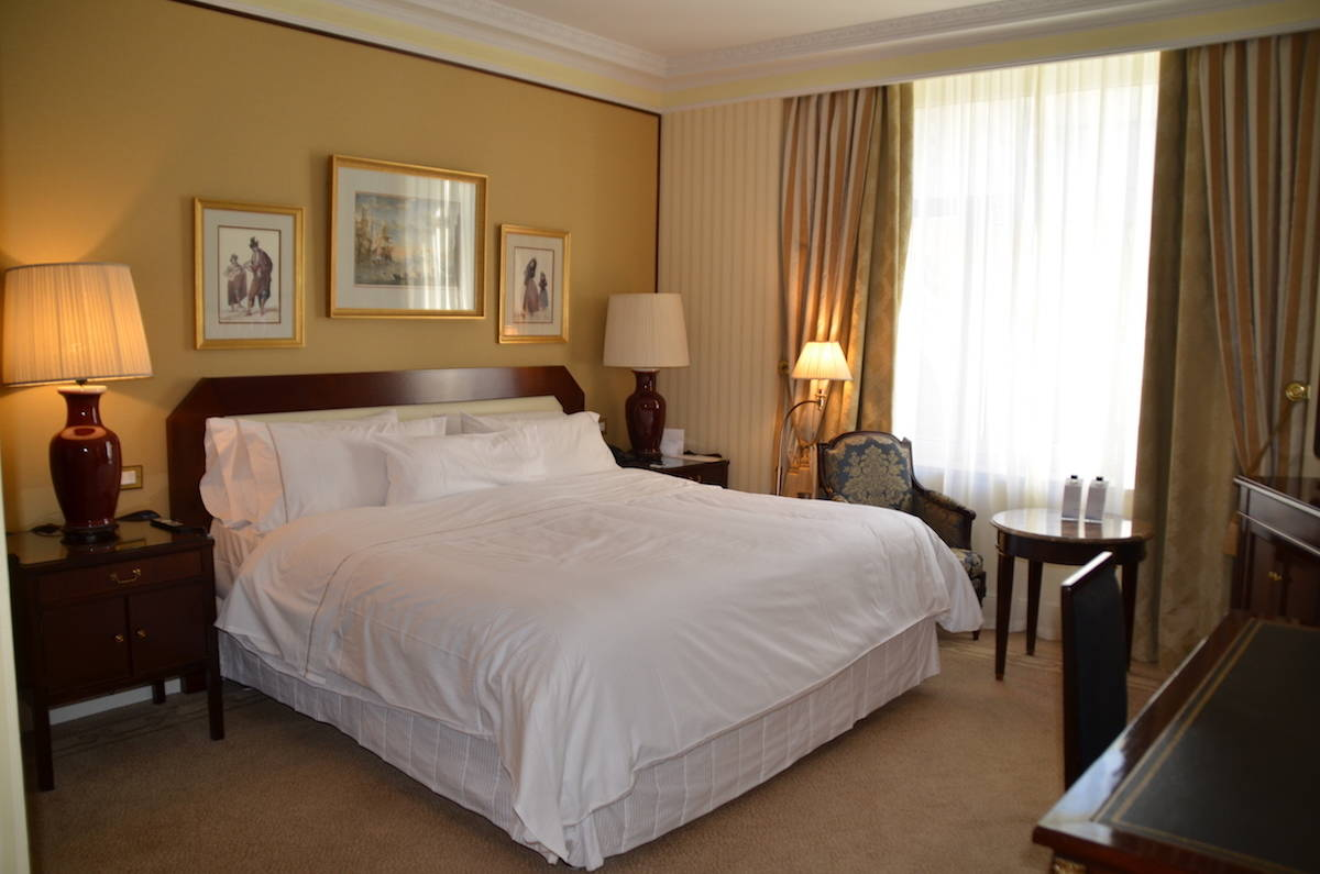 You won't want to get out of your Westin heavenly bed at the Westin Palace Madrid. TravelingWellForLess.com