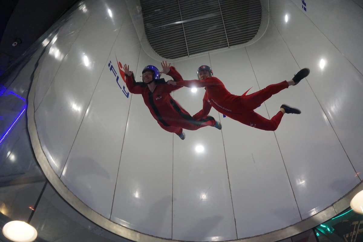 Experiencing High Flight at iFly Portland Indoor Skydiving. | iFly Portland Indoor Skydiving | https://www.travelingwellforless.com
