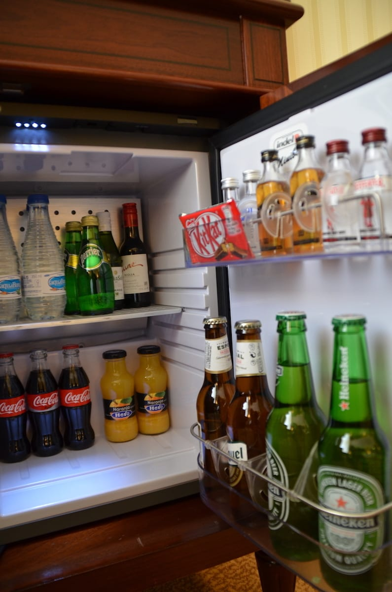 Rooms at the Westin Palace Madrid come with a stocked minibar. TravelingWellForLess.com