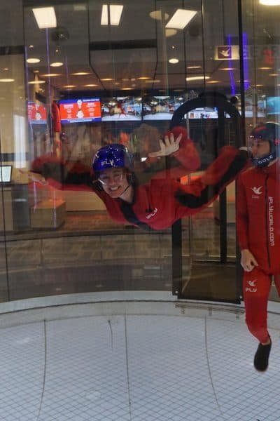The thrill of skydiving without jumping out of an airplane at iFly Portland Indoor Skydiving. Floating free miles above the ground, the air whipping around my legs. That excites me.   iFly Portland Indoor Skydiving   https://www.travelingwellforless.com