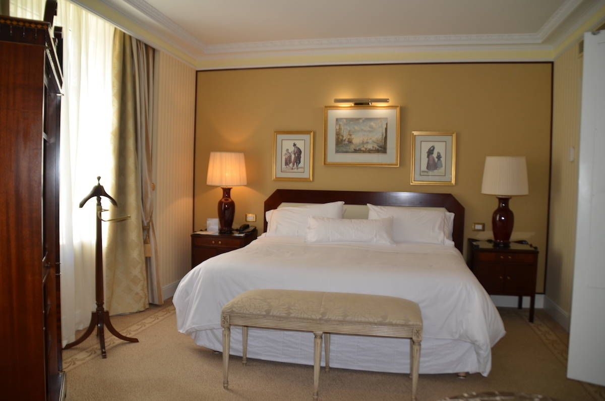 Westin Palace Madrid Junior Suite includes a large living room and separate bedroom. TravelingWellForLess.com