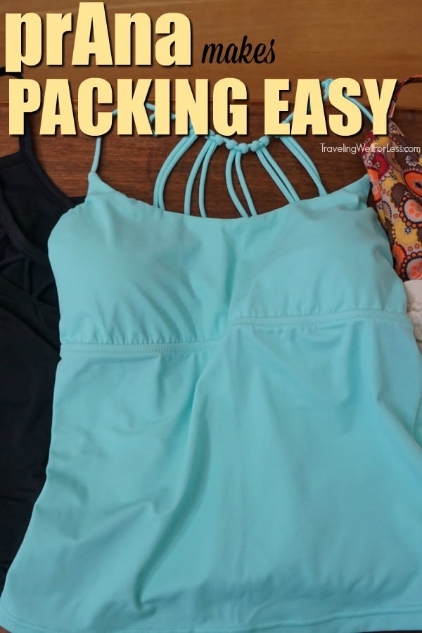 One of my favorite clothing brands is prAna. Their clothes are gorgeous, practical, and can take you through any activity. You'll love how lightweight prAna clothes are. It makes packing easy. You don't have to think about what to bring. | #ad #carryonbag #singlebag #sustainableclothing #TravelprAna #prAnaSpring18 https://www.travelingwellforless.com