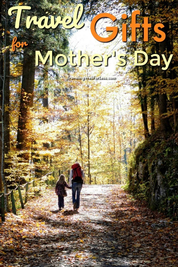 Finding the perfect travel gifts for Mother's Day is a delicate balance of finding something that's practical yet a little self-indulgent. Use this list of great presents for moms who love to travel.   https://www.travelingwellforless.com #travel #travelgifts #mothersday