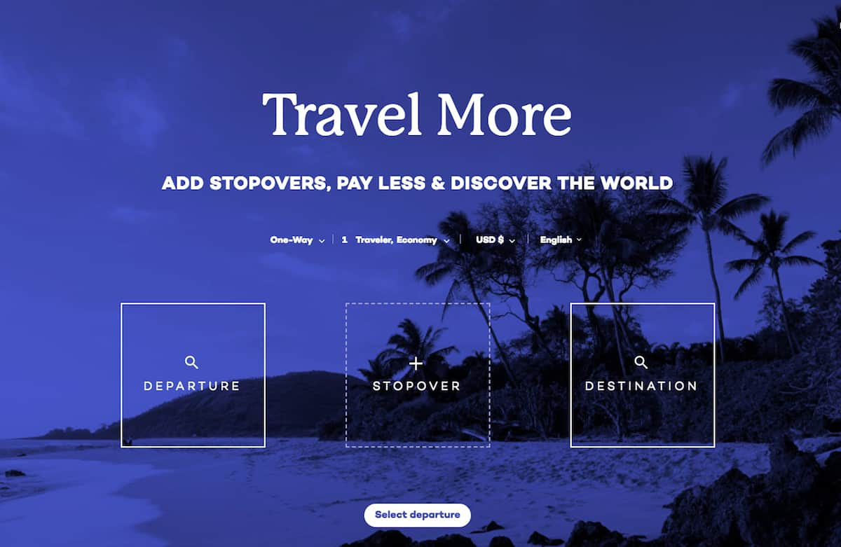 Use AirWander to find the cheapest airline ticket that includes stopovers!