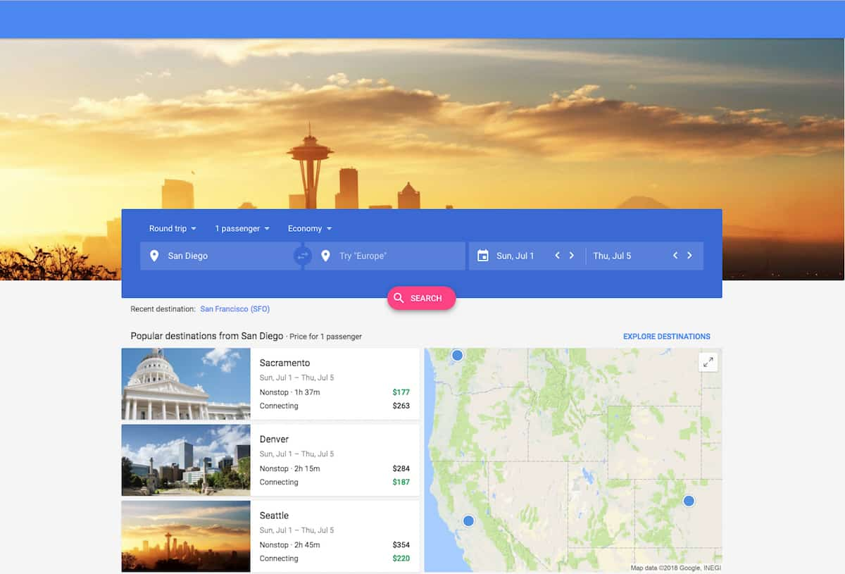 Google Flights is one of the fastest and easiest websites to find cheap flights