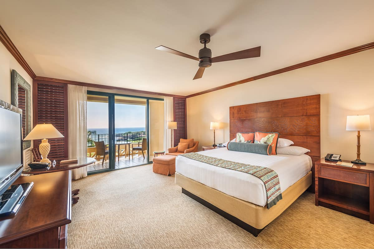 oceanview room at Grand Hyatt Kauai resort and spa