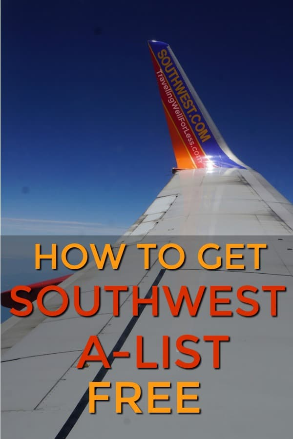 Southwest A-List status gets free Early Bird Checking, Priority Boarding, and more! You'll save time and money. Here's how you can get it for free. http://www.travelingwellforless.com #travelhacks #traveltips #travel #traveldeal #travelhack
