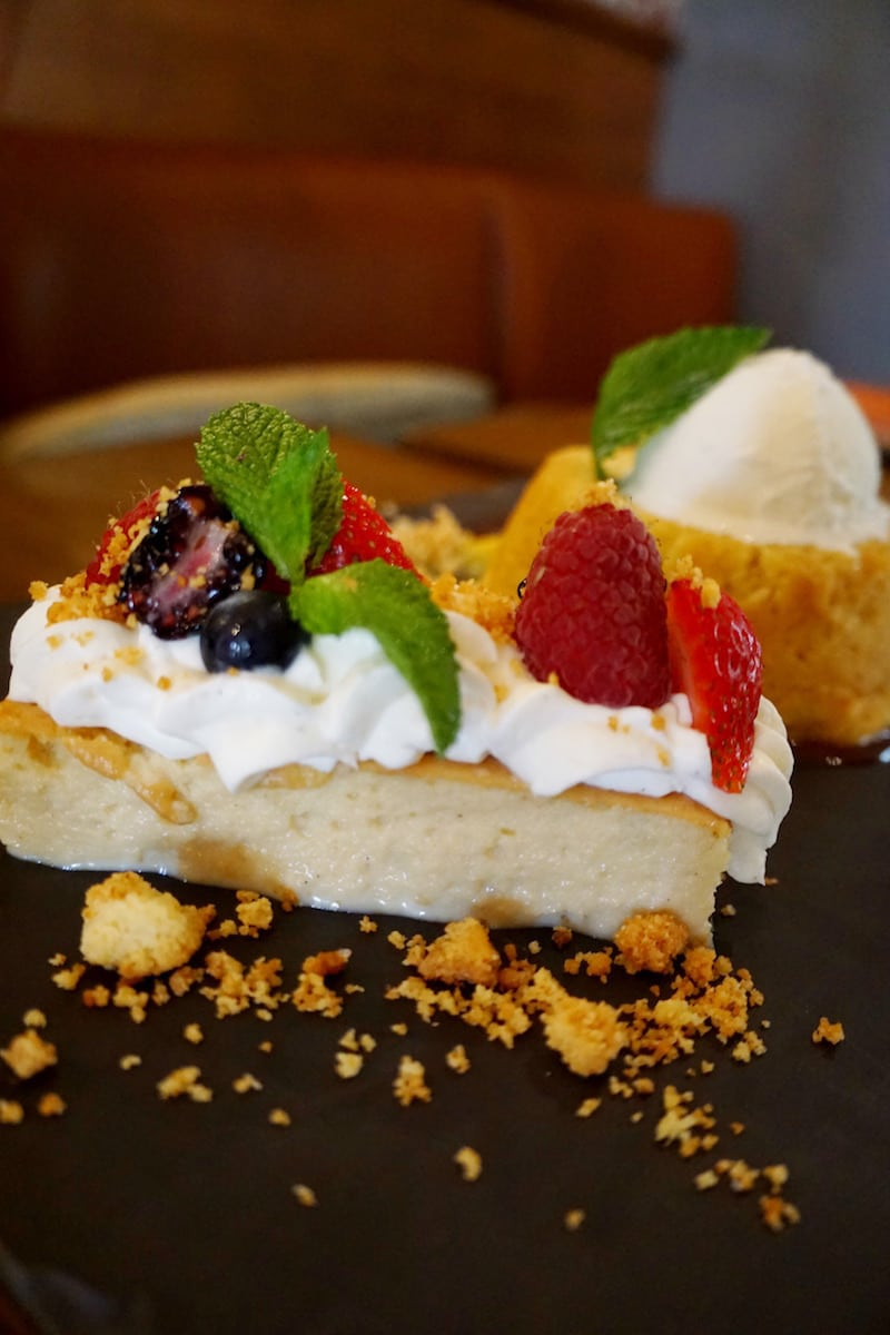 Three types of milk add to the creamy deliciousness of the Tres Leches at Red O La Jolla. | Rick Bayless | Where to eat in San Diego | Mexican restaurant | TravelingWellForLess.com