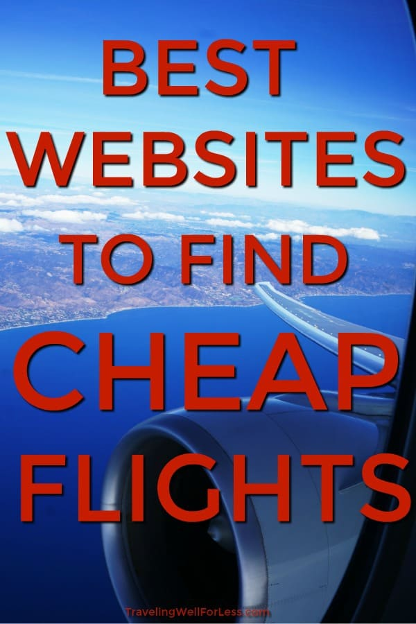 Searching for cheap airline tickets? Ever wonder if you're getting the best price on your ticket? These are the best websites to find cheap flights. Use these sites and you'll know you got the lowest price on your ticket. https://www.travelingwellforless.com #travel #traveltips #travelhacks #traveldeals