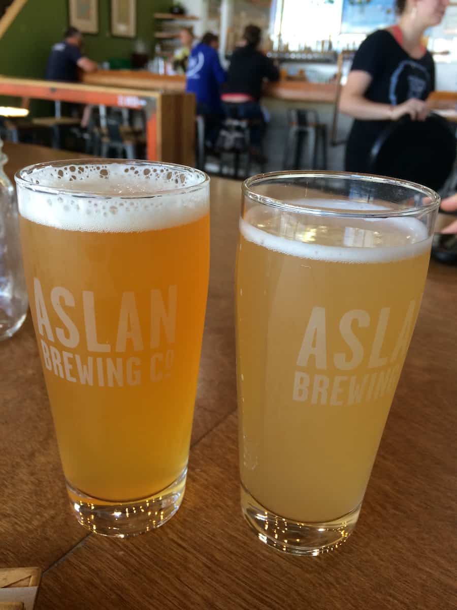 Aslan Brewing Co is an award-winning cool, family-friendly organic brewery that offers a variety of beer styles. #craftbeer #beer #brewery #Bellingham #Washington