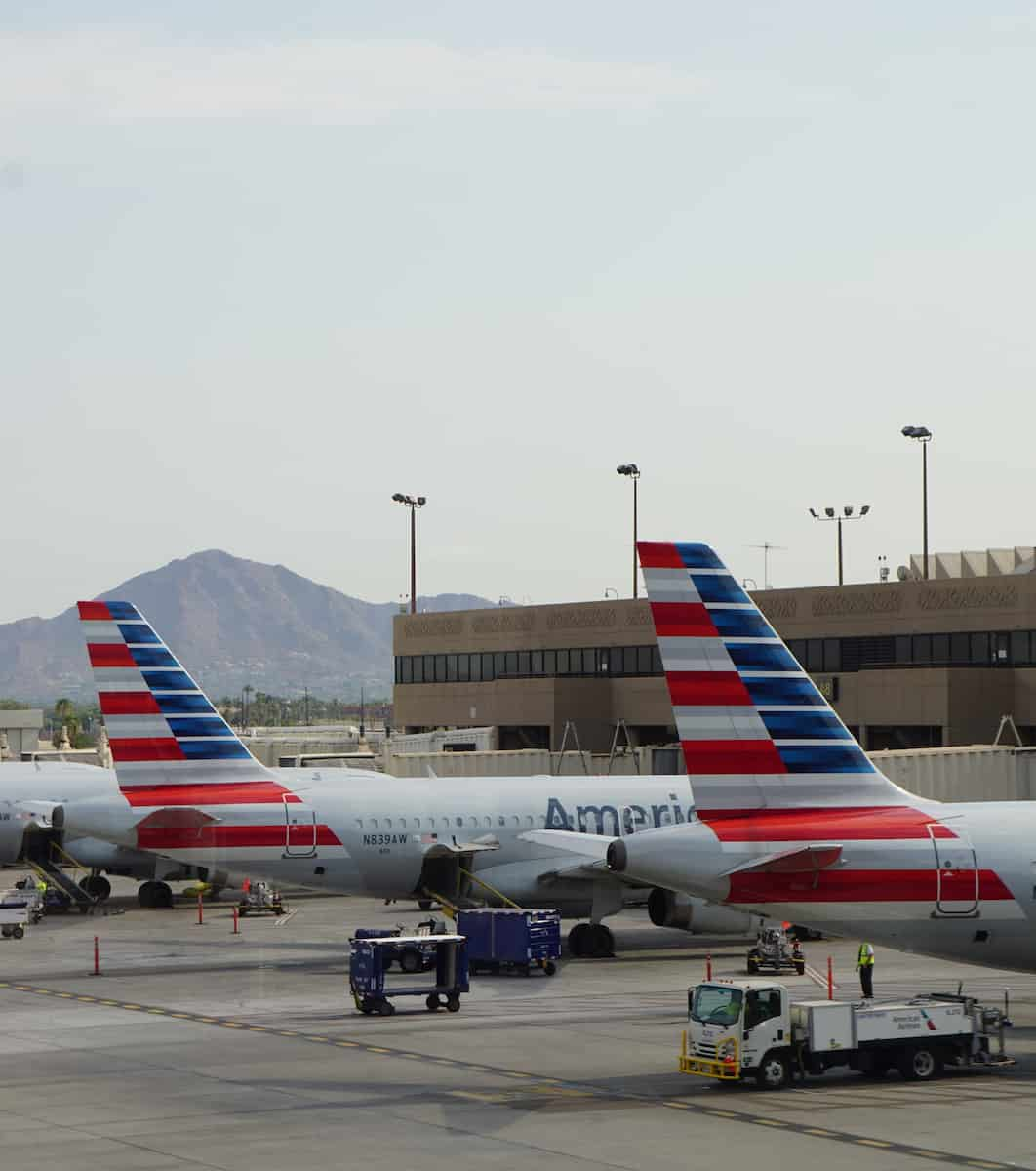 I used 7,500 American Airlines miles to fly to Phoenix to visit Arizona in the summer.