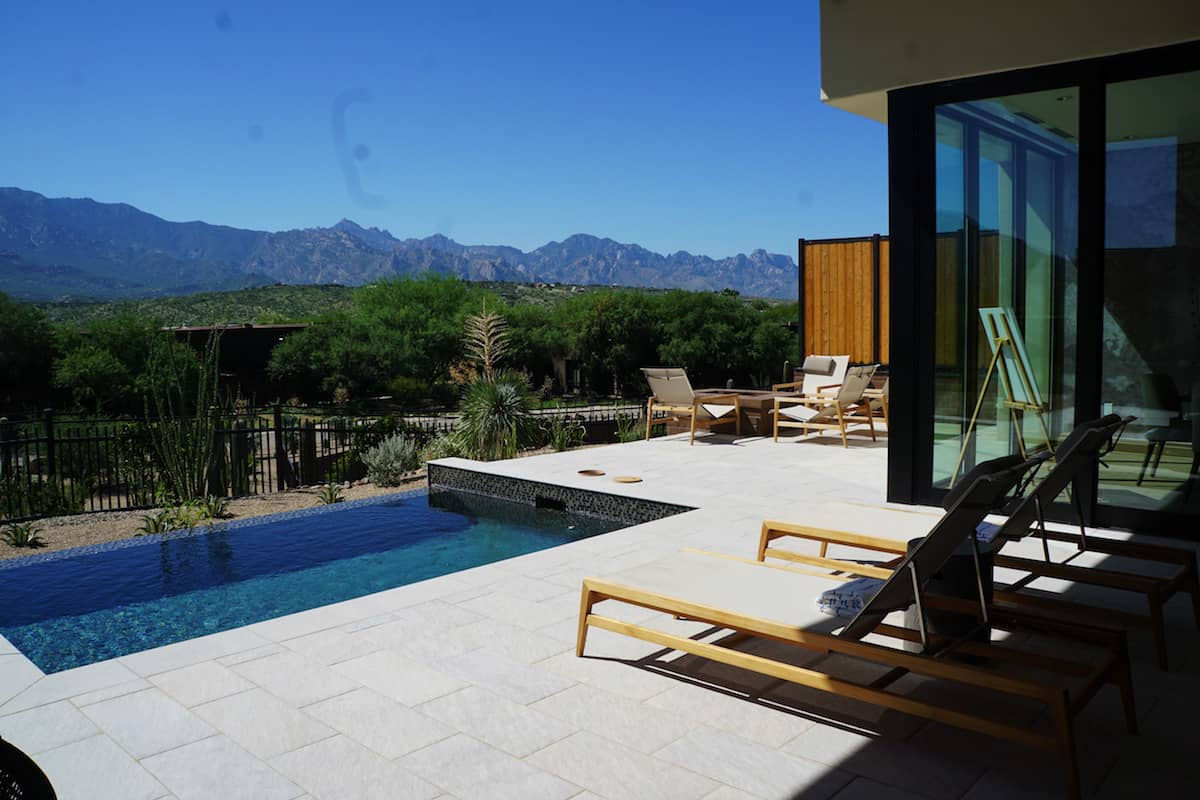 A friggin' massive 1 bedroom house with a private infinity pool, multiple fireplaces, firepit, steam shower, and outdoor shower. And more!!