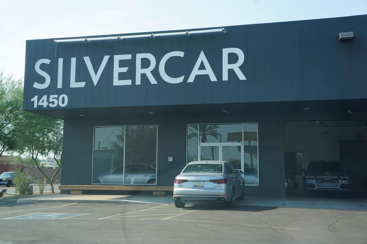 The Silvercar concierge drives you to their location on South 16th street, about 6 minutes from the rental car center.