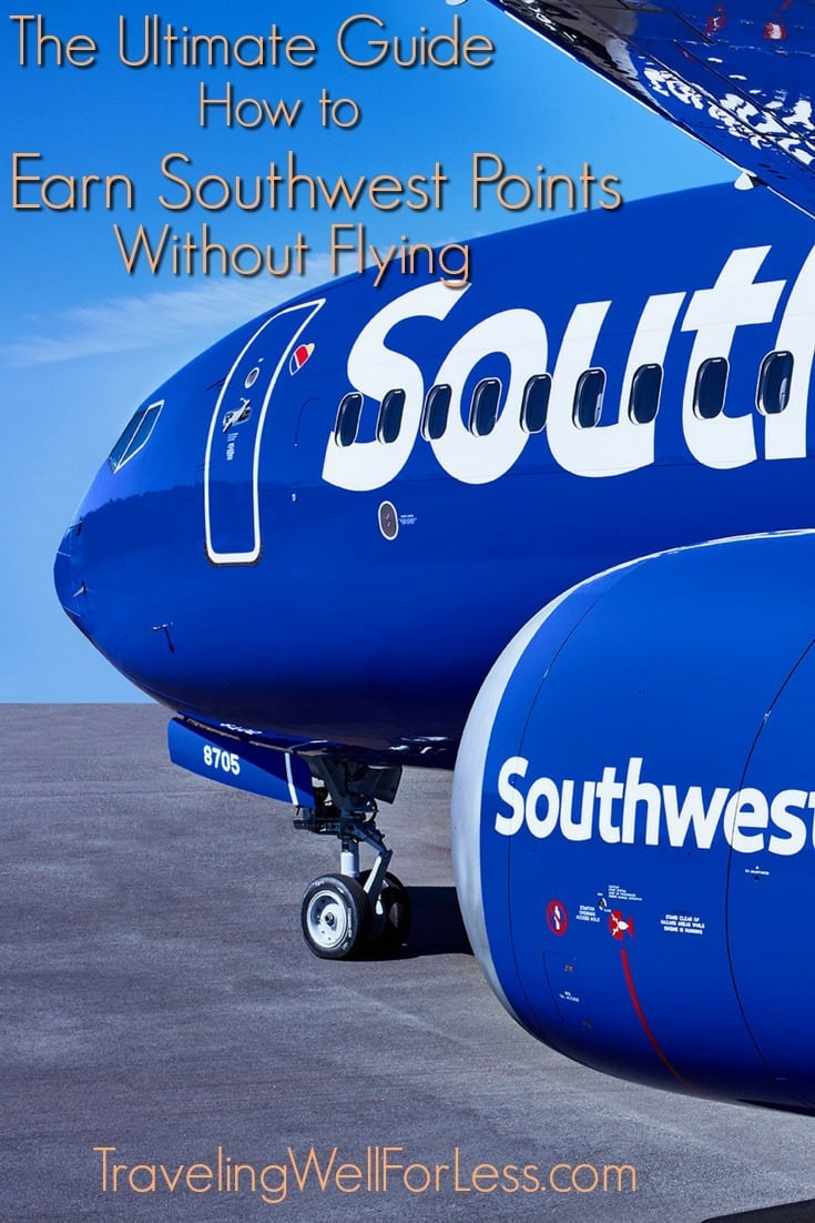 There are so many ways to earn Southwest points. Our Ultimate Guide on how to earn Southwest points without flying helps you earn points without getting on a plane or leaving the house! | Photo courtesy: Southwest Airlines | how to earn Southwest points without flying | travel hacking | miles and points | TravelingWellForLess.com
