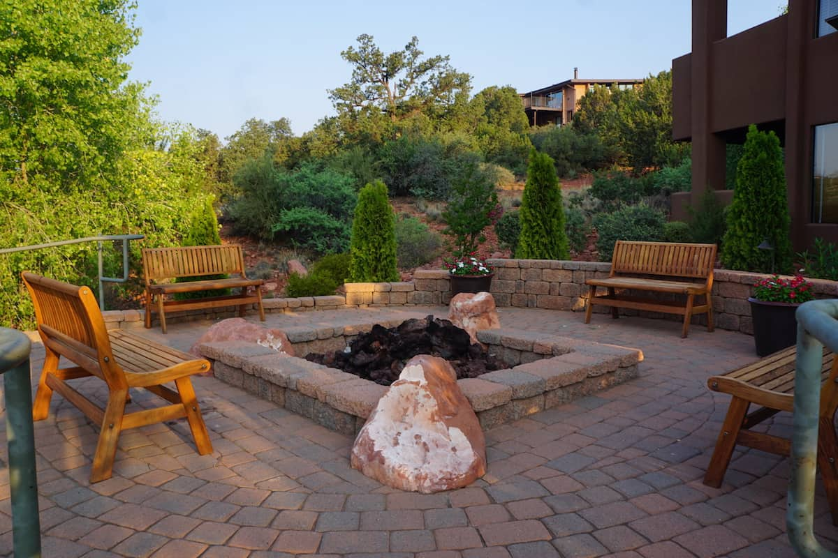 fire pit near 2000 building Hyatt Residence Club Sedona Pinon Pointe