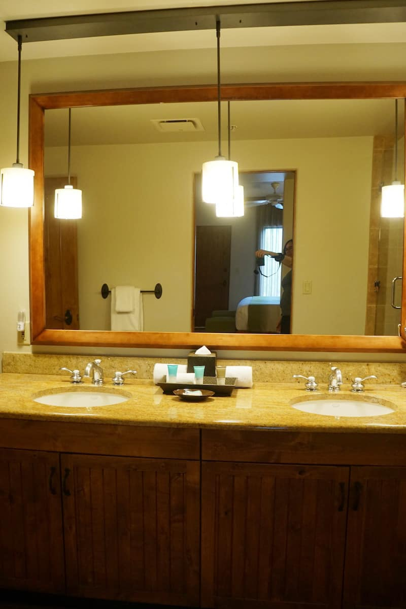 Dual vanities mean you don't have to share a sink.