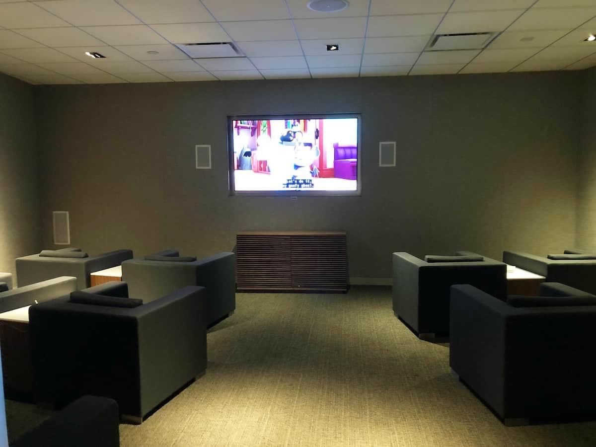 Star Alliance Business Class Lounge LAX TV room 2