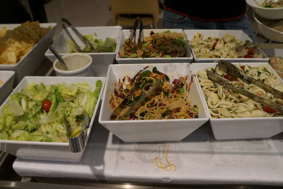 salads Star Alliance Business Class Lounge LAX