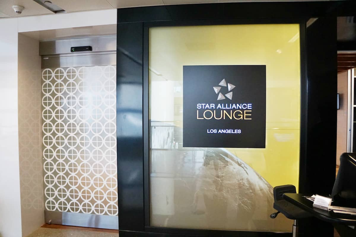 entrance to Star Alliance Business Class Lounge LAX