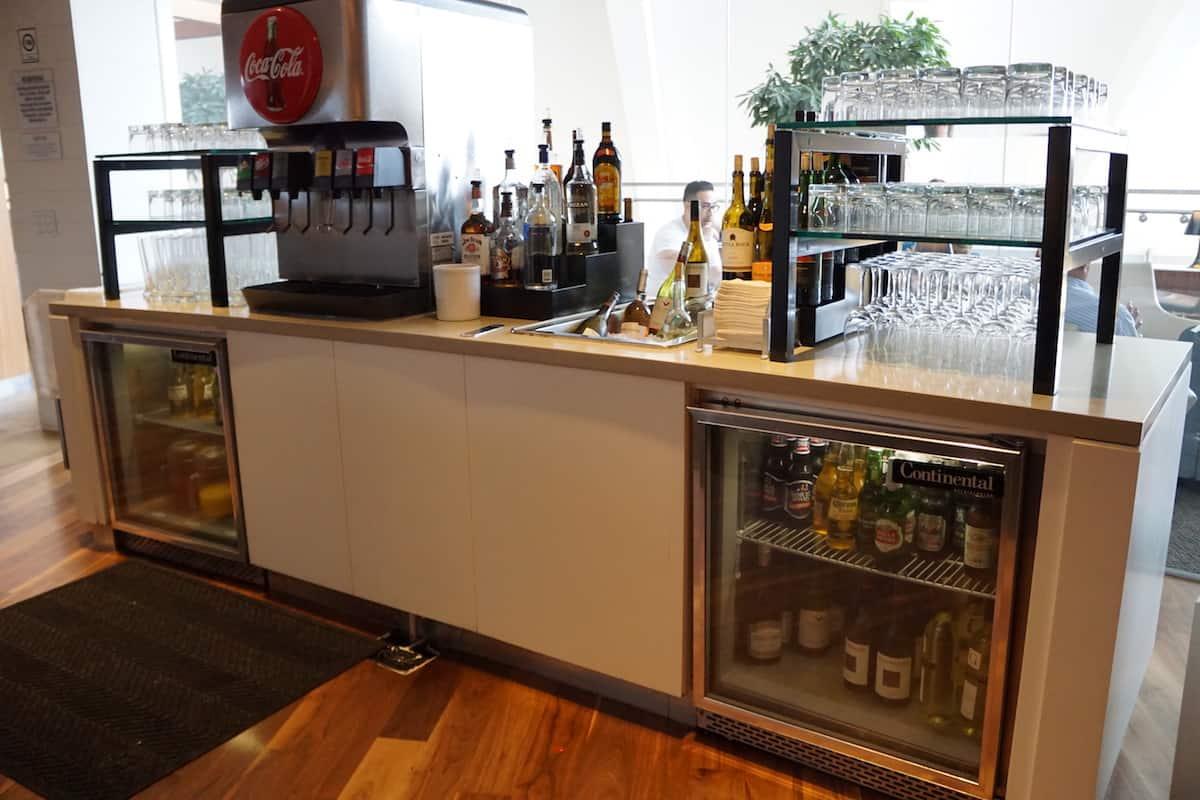 self-serve drink station Star Alliance Business Class Lounge LAX