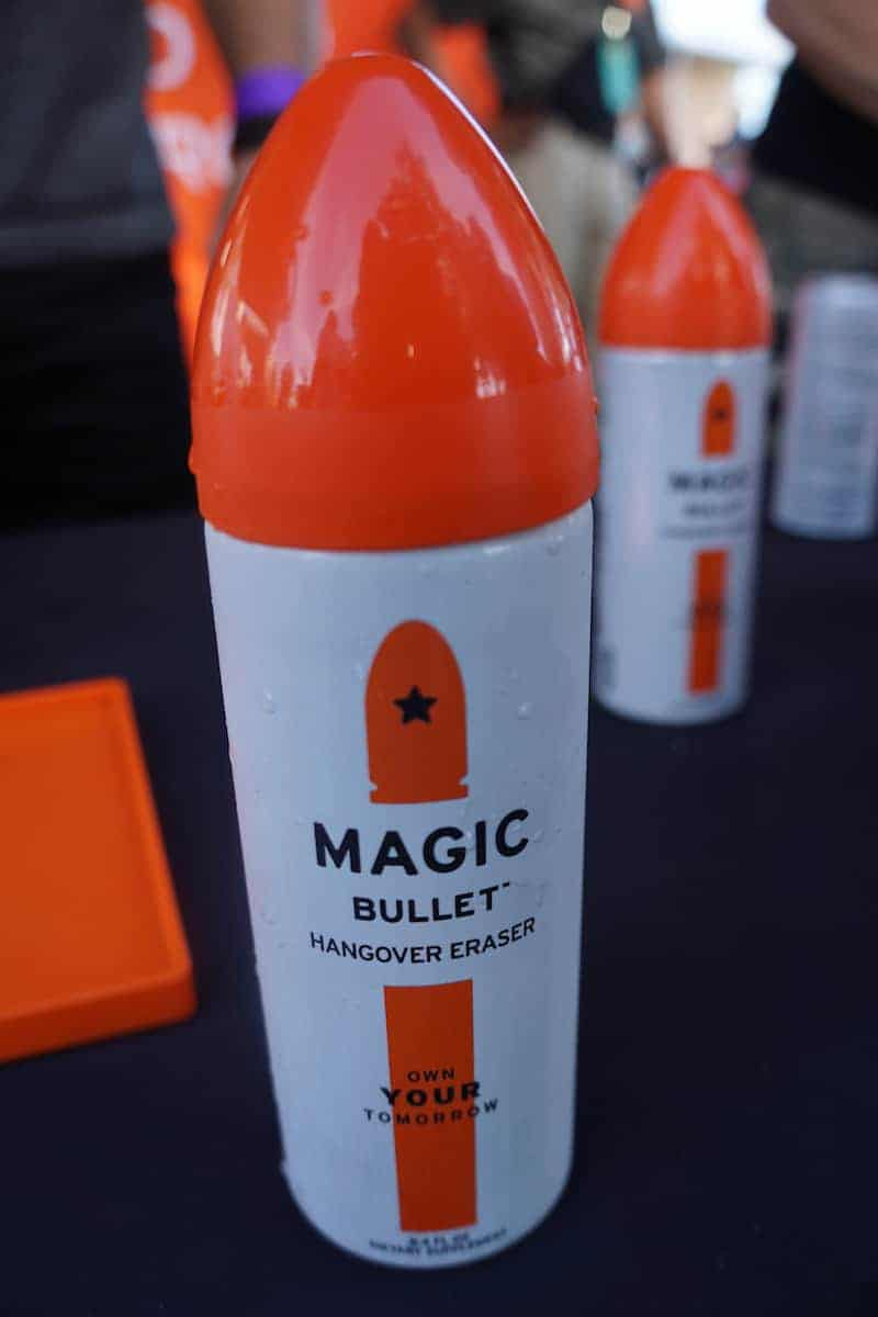 All hail the Magic Bullet. And I'm not talking about the blender or sex toy. The Magic Bullet drink when taken before drinking, helps prevent a hangover. Made from all natural ingredients, it's gluten-free, and only 40 calories. | San Diego Bay Wine and Food Festival | SommCon | Vault | wine | TravelingWellForLess.com