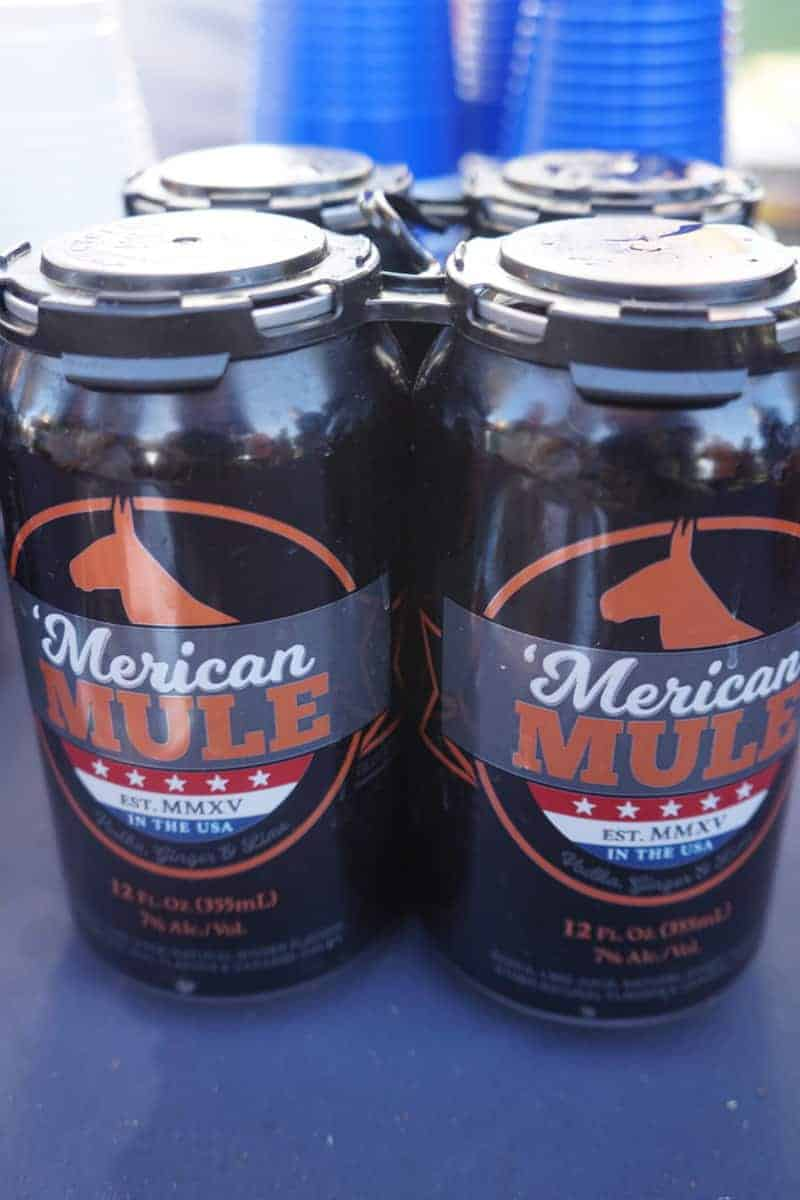 Moscow Mule in a can. Yes, please! These premixed Moscow mules are delicious and come in an easy to open can. Perfect for the beach, picnics, and anywhere that glass isn't allowed. | San Diego Bay Wine and Food Festival | SommCon | Vault | wine | TravelingWellForLess.com