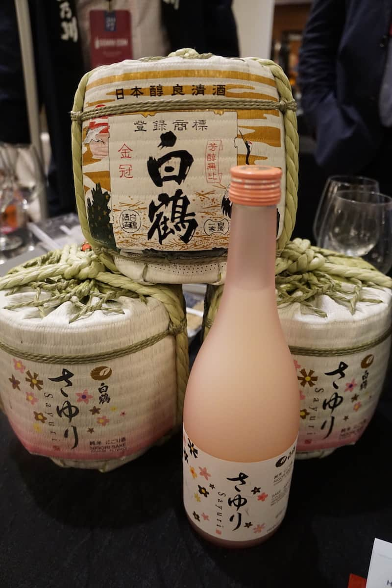The Hakutsuru Sayuri Nigori Sake was deliciously smooth with a hint of sweetness. | San Diego Bay Wine and Food Festival | SommCon | sake | TravelingWellForLess.com