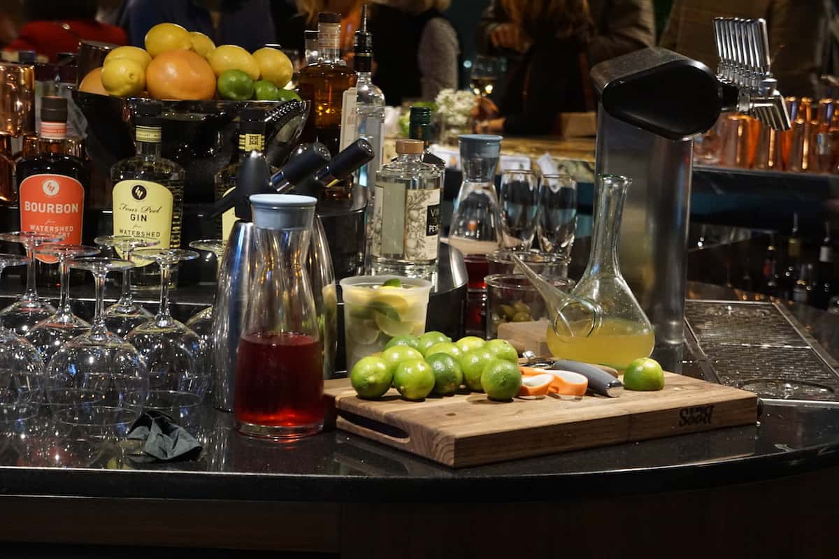 Behind the bar at the VASO rooftop lounge. | Dublin, Ohio | Columbus | Spanish food | where to eat in Columbus | TravelingWellForLess.com