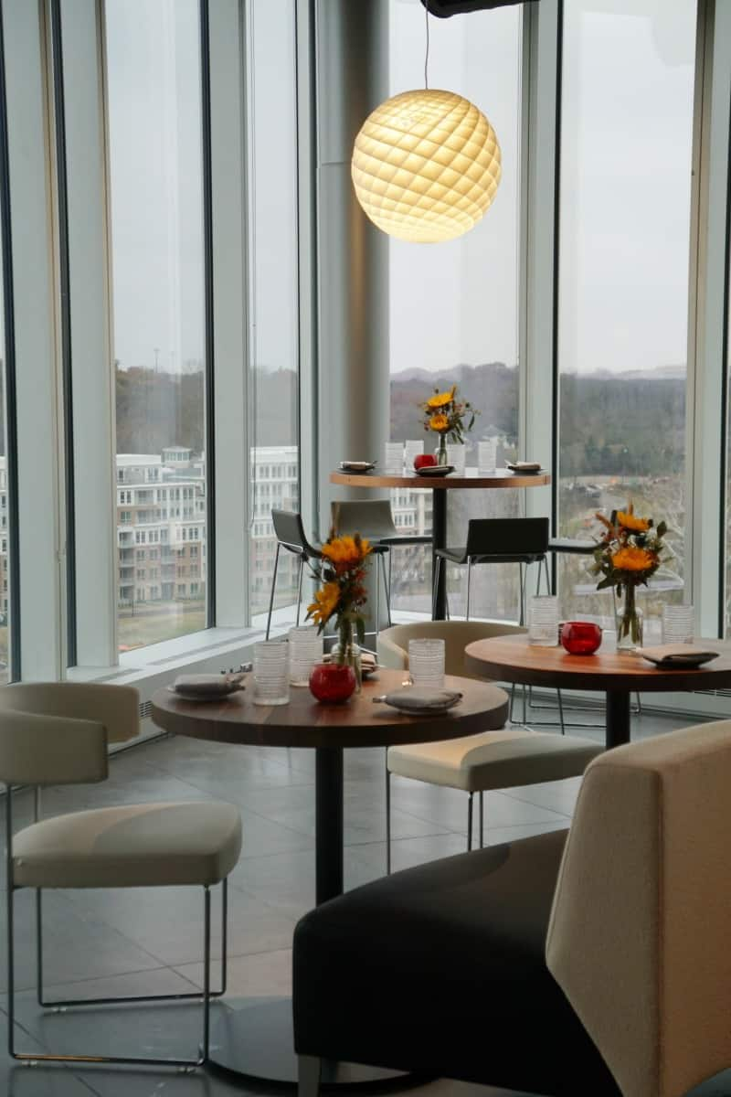 VASO Rooftop Lounge Inside tabletops for shared tapas. | Dublin, Ohio | Columbus | Spanish food | where to eat in Columbus | TravelingWellForLess.com