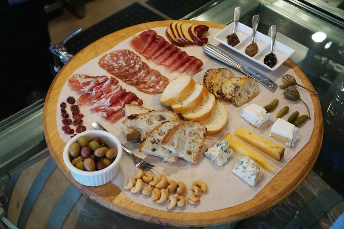 Enjoy a delicious charcuterie board with LJ Crafted Wines. | San Diego wineries | What to do in San Diego | www.travelingwellforless.com