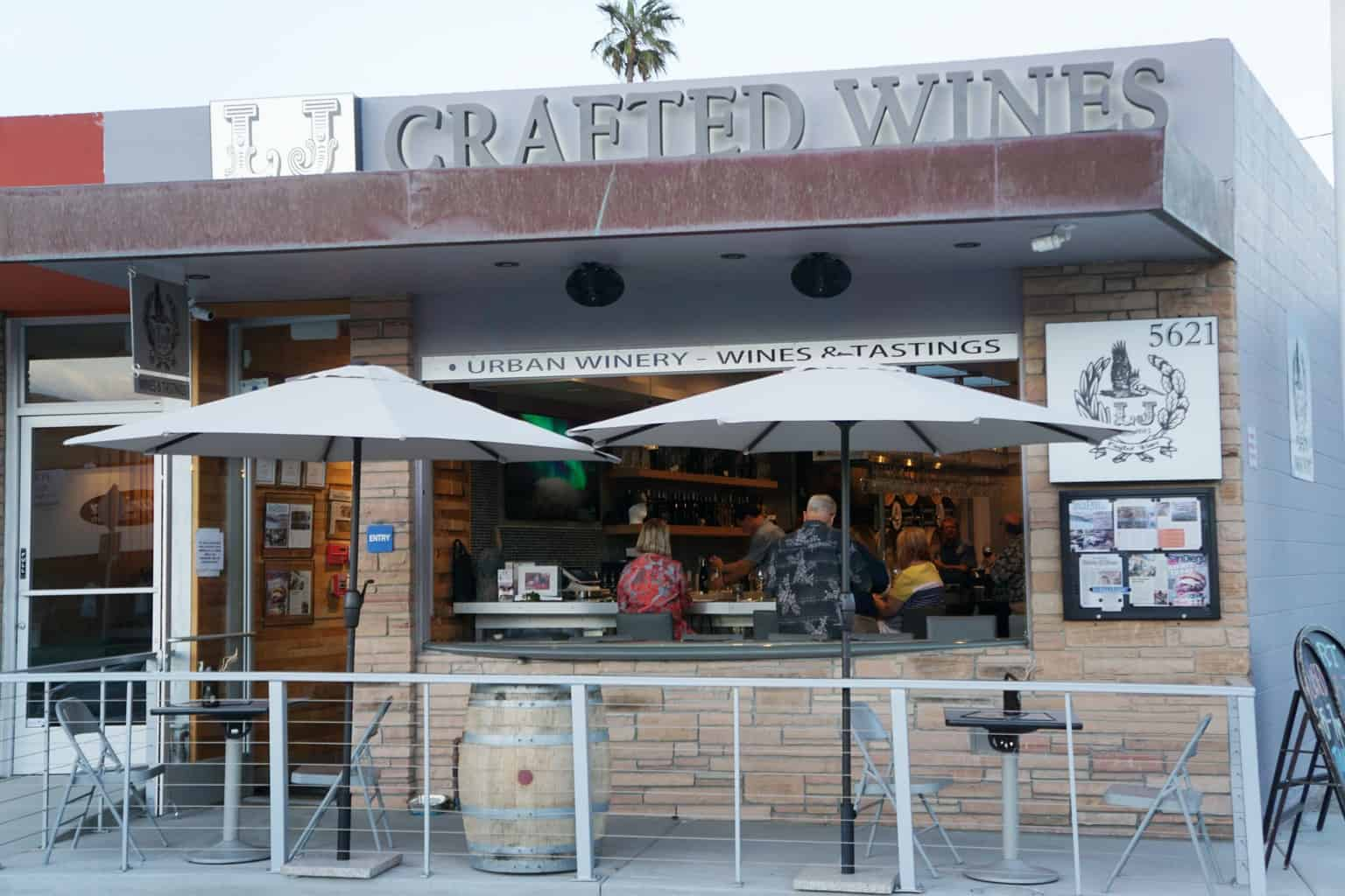 """LJ Crafted Wines is one of over 20 San Diego urban wineries. You may not have heard of it because it's not downtown or in """"Beeralani."""" 