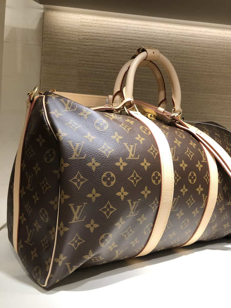 Louis Vuitton Keepall Bandouliere at South Coast Plaza, one of the best things to do in Costa Mesa
