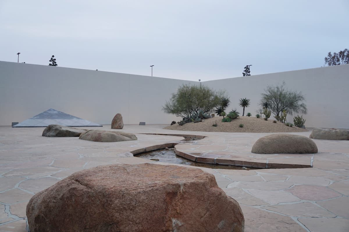 panoramic view of Noguchi Garden, one of the best things to do in Costa Mesa