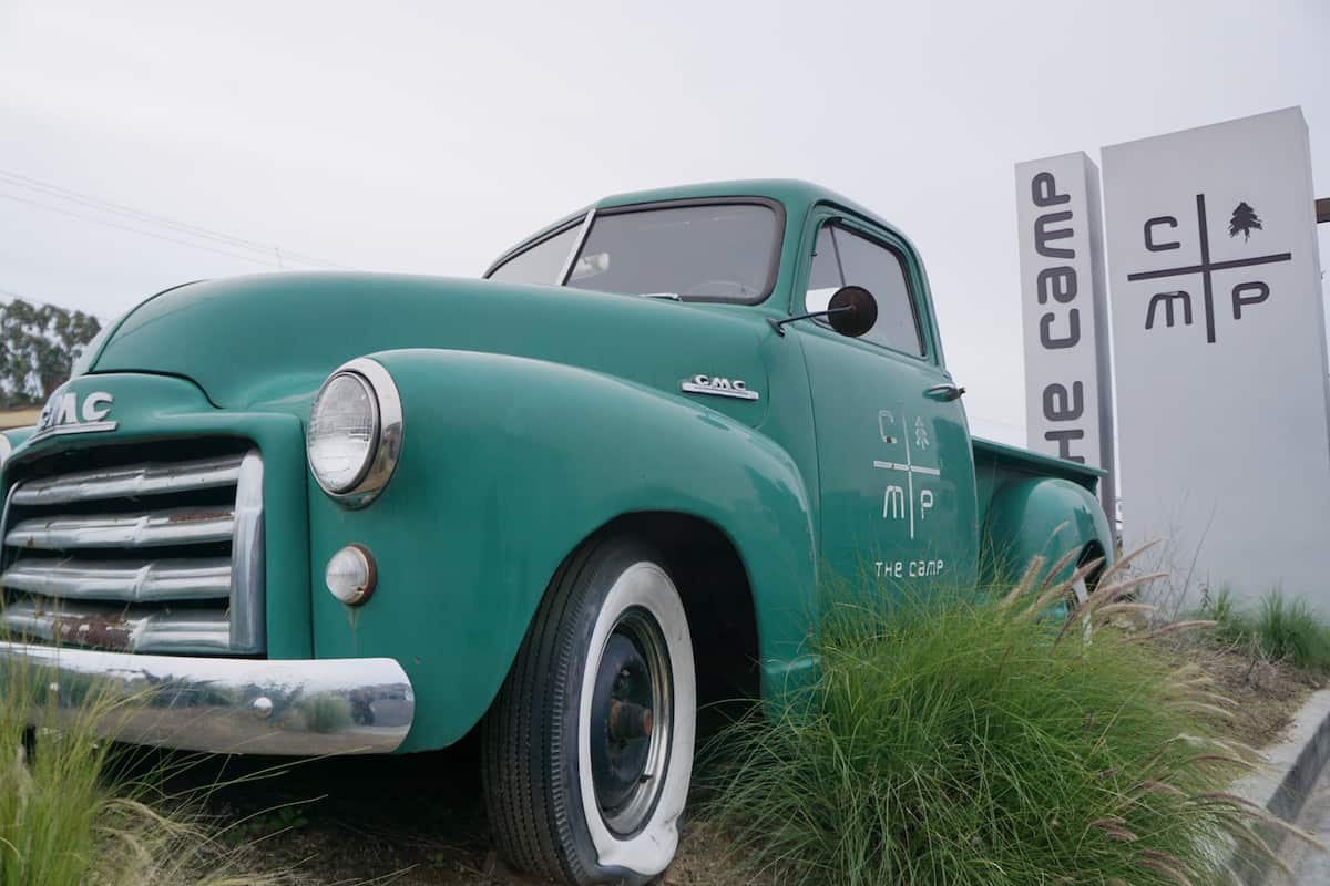 vintage GMC truck, The Camp, best things to do in Costa Mesa