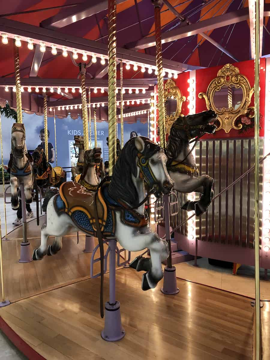 carousel, South Coast Plaza, best things to do in Costa Mesa
