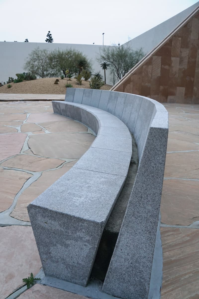 granite benches, Noguchi Garden, best things to do in Costa Mesa