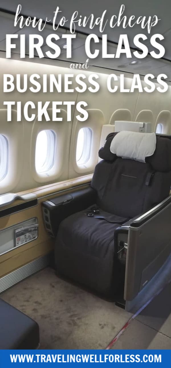 Who doesn't dream of being able to stretch out on a flight? Having a bed in the sky? Or taking a shower inflight? First Class and Business Class airline tickets can be expensive. With these tricks you can book and find cheap First Class and Business Class tickets. #travel #traveltips #travelhacks #travelwell4less