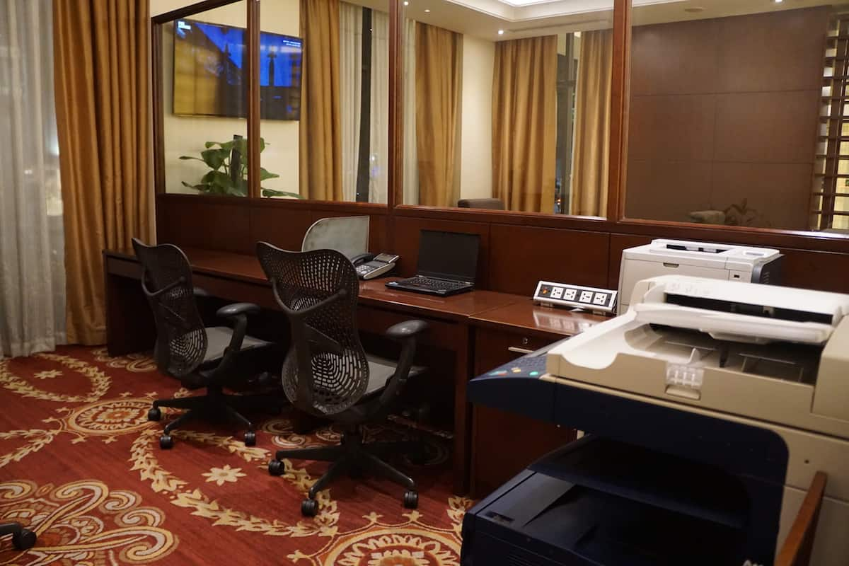 printer, copy machine at hotel