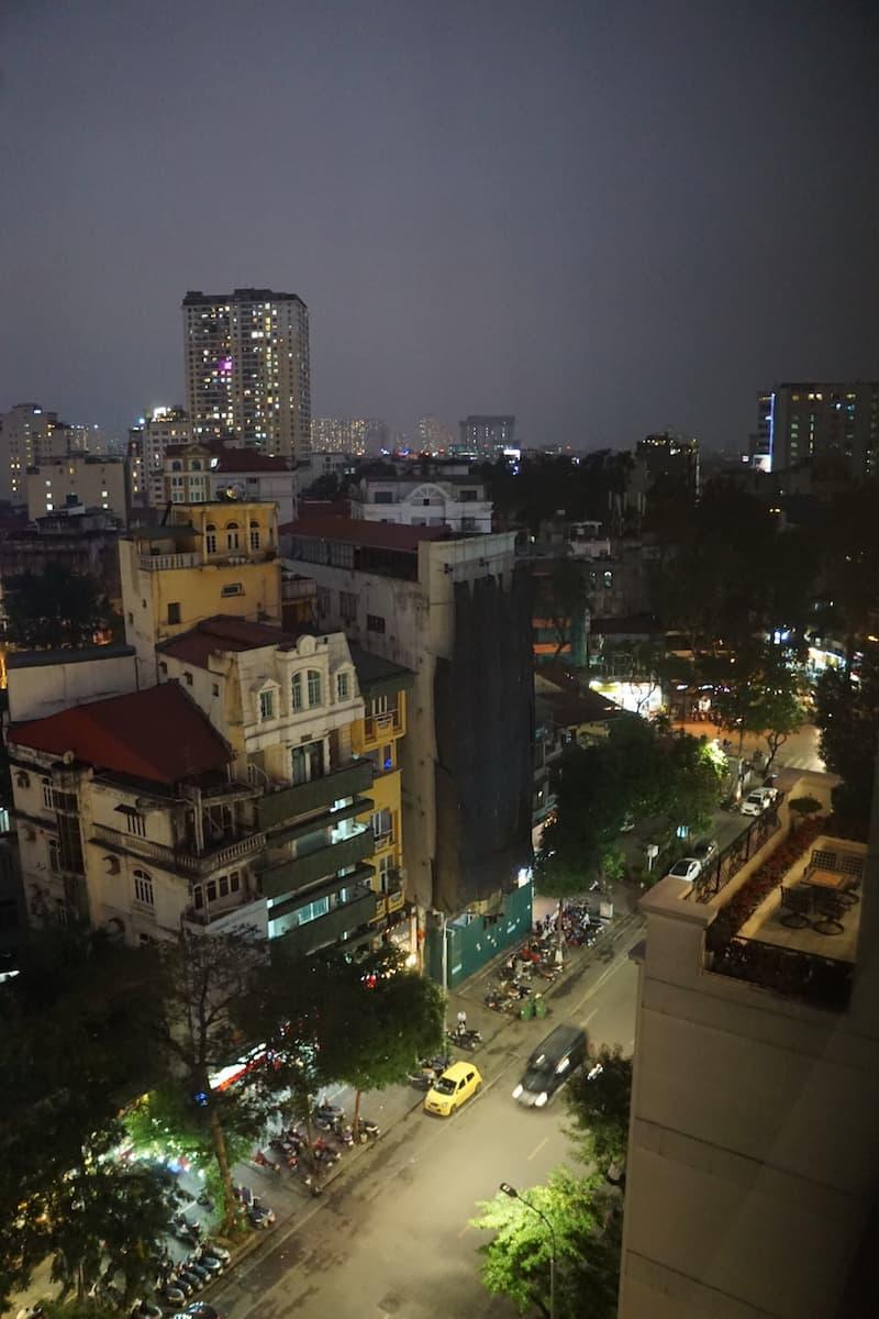 Hanoi French Quarter at night